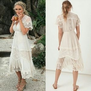 Spell & the Gypsy Maggie Embroidered Midi Dress